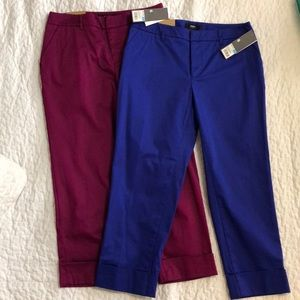 2 Pairs (lot) of Brand New Capris Curvy Hip